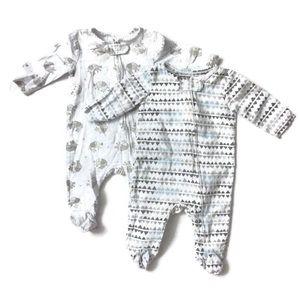 Aden + Anais Unisex Sleeper Pajama Footie Bundle